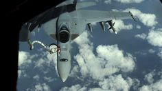 12/2/2013 - A U.S. Navy F/A-18 Super Hornet is refueled by a U.S. Air Force KC-135 Stratotanker from Kadena Air Base, Japan, Nov. 26, 2013. The 909th Aerial Refueling Squadron is one of only two aerial refueling squadrons in the Pacific region, which makes frequent joint training missions a necessity in retaining their skills. (USAF Airman 1st Class Todd Holly)