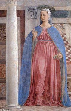 '10. Annunciation (detail) (10)', Frescoes by Piero Della Francesca (1415-1492, Italy)