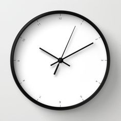 Wall clock with small numbers of hours very chic and modern