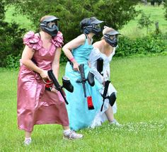 When Rebecca Coleman was planning her wedding two years ago, she decided to skip the peen-themed bachelorette party and try something a little more unusual: #paintball #boston #brides www.bostonpaintball.com #chelsea #ashland #maynard