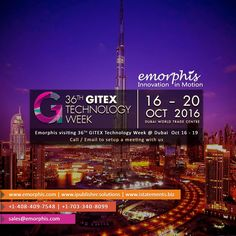 #cloudcomputing Emorphis Visiting 36th #Gitex Technology Week at #Dubai 16 to 19 Oct 2016. Call/Email to Setup A M http://pic.twitter.com/T6Ib8n1Rgd   Cloud Computing 4U (@Cl0udComputing) September 30 2016