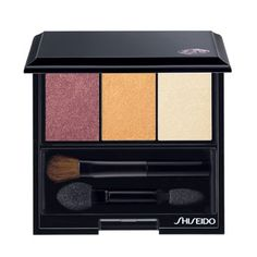Shiseido Luminizing Satin Eye Color Trio — RD299 Beach Grass  Pearl Eye Shadows — Plum, Shimmering Gold and Matte White colours. Perfectly blends, easy to apply, long lasting (except white). 2013