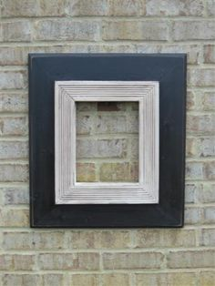 8x10 Black with a detailed antique white trim. Distressed and Glazed