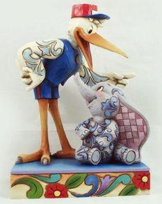 jim shore dumbo | ... Delivery' Dumbo and Stork figurine (Jim Shore) - Dumbo Mr. Stork