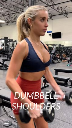 Upper Body Workout Gym, Butt Workout, Slim Arms Workout, Shoulder Workout Women, Workout Tops, Gym Workout Videos, Fun Workouts, Fitness Goals, Fitness Motivation
