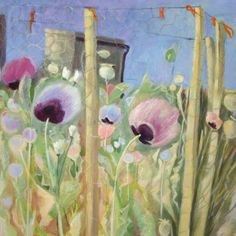 'Poppies Grow On Disturbed Ground' By Painter, Tessa Newcomb. Blank Art cards By Green Pebble. Kate Green, Small Drawings, Garden Painting, Hirst, Naive Art, Source Of Inspiration, Pictures To Draw, Botanical Art, Flower Art
