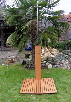 Ducha de madera y acero inoxidable - YoElijoElPrecio.com