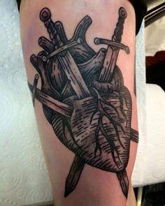 Three of Swords Tarot Tattoo Trendy Tattoos, Black Tattoos, Cool Tattoos, Forearm Tattoos, Body Art Tattoos, Heart Tattoos, Ink Tattoos, Tatoos, Tarot Card Tattoo