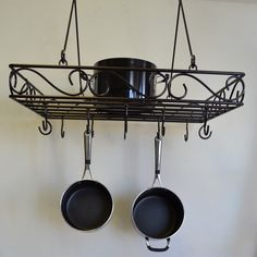 Have to have it. J & J Wire Scrolled Wrought Iron Pot Rack - $75.98…
