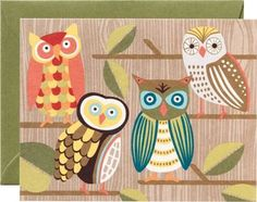 We've turned our new owl design into charming stationery. Paired with moss envelopes for stylish personal correspondence. Send a thank you, a love note, or just a quick hello with these adorable chara