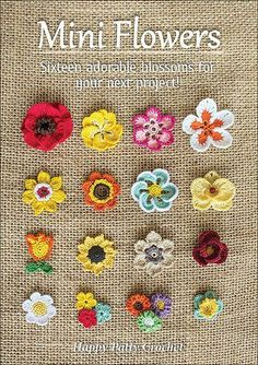 Ravelry: Mini Flowers - crochet pattern for purchase Diy Crafts Ideas Ravelry: Mini Flowers -Read More – The e-book includes patterns for small Moth Orchid, Rose, Poppy, Gerbera… Ravelry: Mini Flowers - patterns (not free) I love looking at the c Crochet Diy, Crochet Motifs, Crochet Amigurumi, Love Crochet, Crochet Crafts, Crochet Stitches, Crochet Projects, Crochet Appliques, Ravelry Crochet