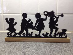 Silhouette  Child Marching Band by msbART on Etsy, $19.50