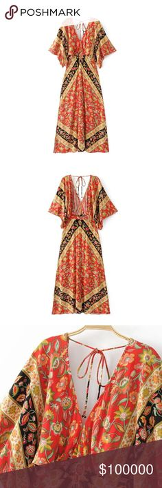 "Pre-Order: Lolita Cutout Maxi Dress Campfire VERY SIMILAR TO SPELL & THE GYPSY Poly/Cotton blend. Approx. $69 Discount available if bundled. IMPORTANT: Sizes S-L runs small please size up. Has cut-out sides. The ""Original Price"" is the est. price this item will be listed at when available. To reserve your pretty piece of heaven comment your size and/or color if applicable. Like this listing to be notified of arrival! I strive to offer beautifully unique items! be notified of new listings…"