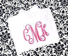 Monogrammed Robe for Bride  Weddings  Bridal  by MisterandMrs, $42.95