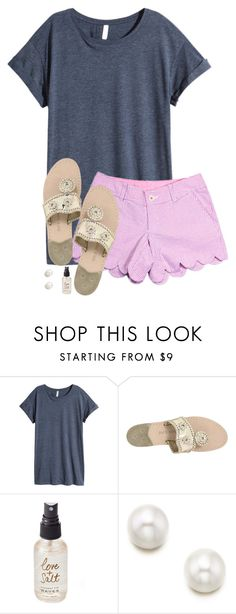 """""""We have to go to the doctor because my brother fell off his bike and hit his head.."""" by sarab873 ❤ liked on Polyvore featuring H&M, Lilly Pulitzer, Jack Rogers and Olivine"""