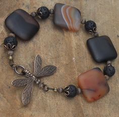 Onyx Bracelet by WandasStatements on Etsy, $54.00