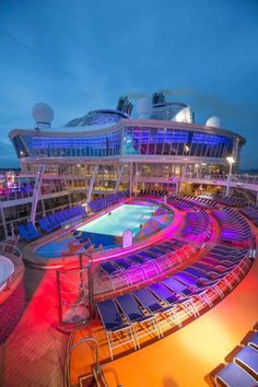 Harmony of the Seas   Where life is a beach chair. After a day full of edge-of-your-seat excursions, the best place to kick back and relax is on the top deck of the world's largest cruise line. Find your next adventure with Royal Caribbean.