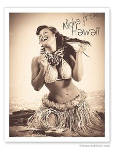 Polka Dot Wahine, Hawaiian Hula Girlr***Research for possible future project.