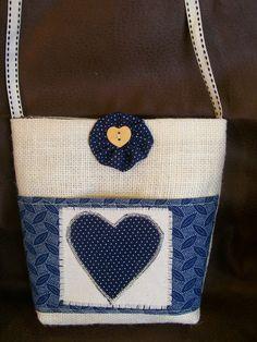 girls hessian bag with shweshwe pocket and lining