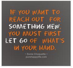 open your hand & let it go!!!