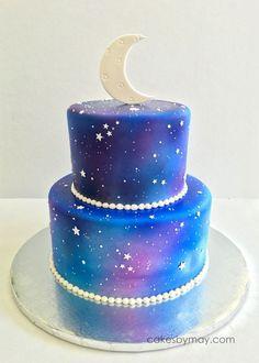 Inspired Image of Galaxy Birthday Cake Galaxy Birthday Cake Starry Night On Cake Central Cakes In 2019 Cake Galaxy Cake cake decorating recipes kuchen kindergeburtstag cakes ideas Galaxy Desserts, Blue Birthday Cakes, Best Birthday Cake, 25th Birthday, Girl Birthday, Galaxy Chocolate, Chocolate Bark, Cupcake Cakes, Cupcakes