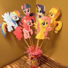 Mi pequeño Pony centro de mesa-todos 6 caracteres Rainbow Dash, Apple Jack, Twilight Sparkle, Fluttershy, rareza, Pinkie Pie