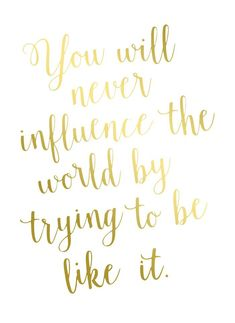 You were wonderfully made...Be YOU!