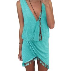 🆑❗️Last One❗️Boho Teal V Neck Mini Dress Boho Teal Deep V Mini Dress. Price is rock bottom. If you would like more discount please bundle. 2 Items 10% Off 3 + Items 15% Off GlamVault Dresses Mini