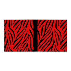 red and black zebra stripes binder