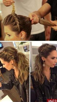 Braid and ponytail
