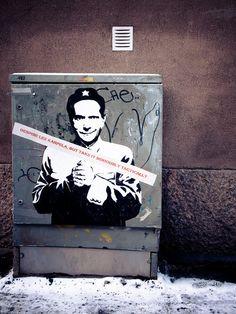 Street poster in Helsinki, Finland.