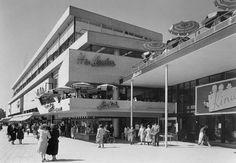 Ter Meulen in de jaren '50, toen nog met terras boven de Lijnbaan.