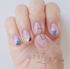 Super manicure ideas for short nails design negative space ideas Short Nail Designs, Nail Art Designs, Nails Design, Gel Nail Art, Nail Polish, Nail Nail, Nail Glue, Acrylic Nails, Geometric Nail