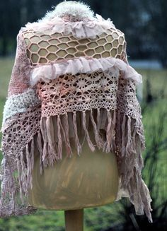 La Boheme bohemian shabby chic shrug from antique door FleursBoheme