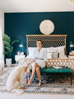 Fashion stylist Alex Evjen loves her finished boho-glam bedroom, decorated with help from Decorist.