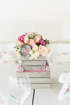 Contemporary Wedding Inspiration with an Architectural Twist designed by Always Andri Wedding Design and photographed by Anushé Low Floral Centerpieces, Wedding Centerpieces, Wedding Table, Floral Arrangements, Rustic Wedding, Our Wedding, Dream Wedding, Wedding Decorations, Table Decorations
