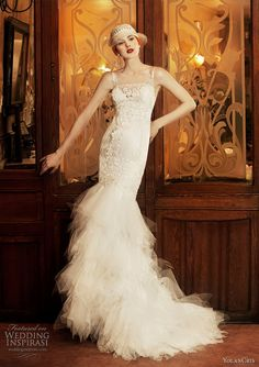'20's inspired wedding dress...love