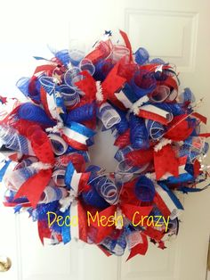 4th of July Deco Mesh Wreath- http://www.facebook.com/decomeshcrazy