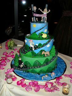 Triathlon Wedding Cake