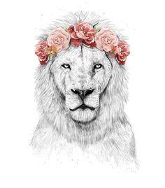 Arte FESTIVAL LION de Balazs Solti | Disponível em camiseta, almofada, caneca e case de celular. Só na @toutsbrasil