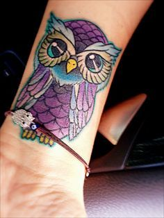 purple girly owl tattoos - Google Search