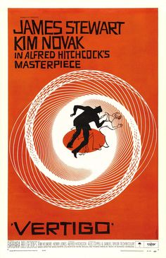 """""""Vertigo"""" - Jimmy Stewart Movie Poster"""