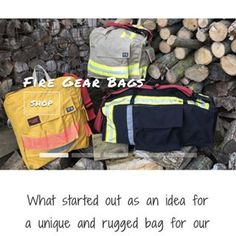 Handmade products from recycled firefighter gear and fire hose. Duffles, shaving kits, keychains and candleholders to name a few.