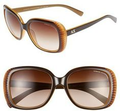 Armani Exchange AX 57mm Butterfly Sunglasses on shopstyle.com