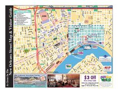 french quarter map with attractions   29.9579091166877 -90.0663471221924 14 satellite