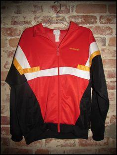 Vintage 80's Adidas Silver Tag Germany Colorway Track Jacket by RackRaidersVintage