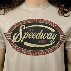 A personal favorite from my Etsy shop https://www.etsy.com/listing/491141261/new-speedway-boogie-t-shirt-dead