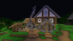 I found a toolsmith so I began building a blacksmith for him I like the way it s looking thus far : Minecraft designs Minecraft medieval Minecraft creations