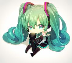 Chibi Miku: The best chibi version of Miku I've seen so far in my life!!