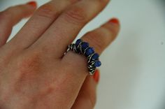 From a Portola Valley, CA Artist Azure Explosion Ring by TigersPrance on Etsy, $25.00